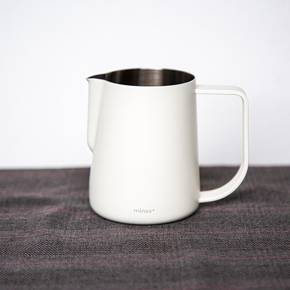 Minos 拉花鋼杯300ml(白色)