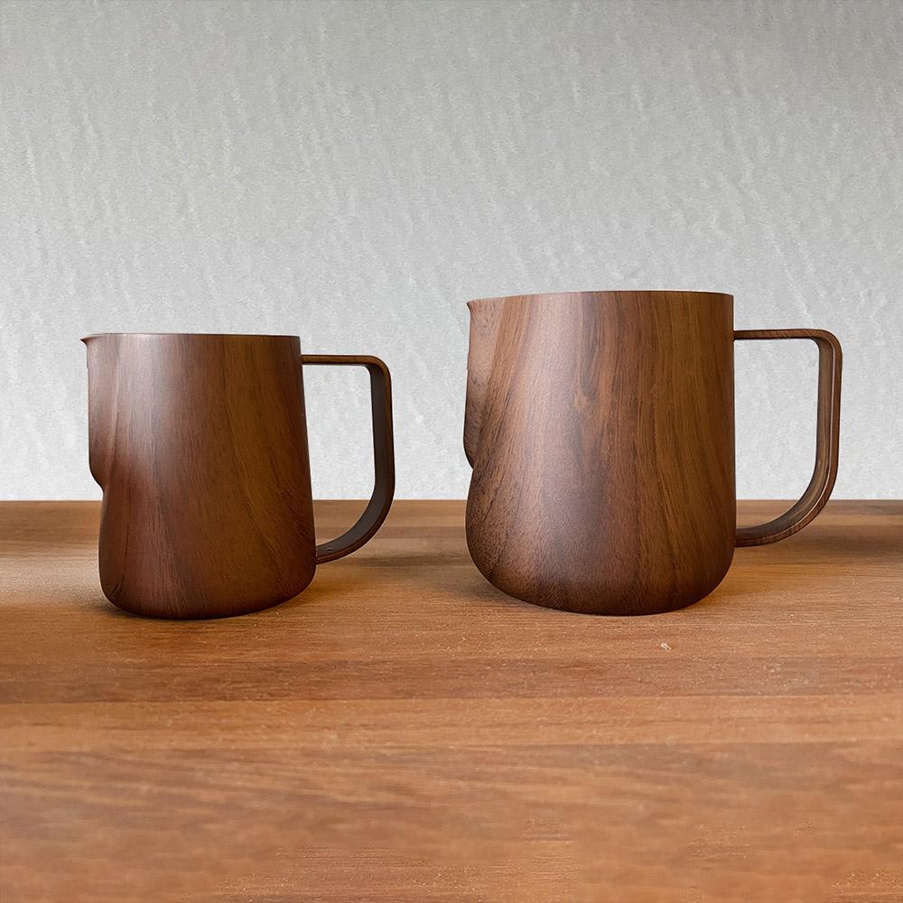 Minos|拉花鋼杯500ml(木紋款)