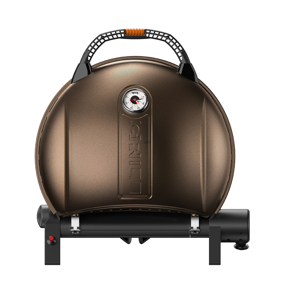 O-Grill| 900MT 美式時尚可攜式瓦斯烤肉爐(香檳金)