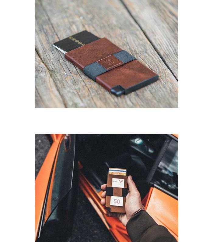 Ekster|荷蘭x紐約設計品牌 簡約真皮RFID防盜信用卡夾-黑色