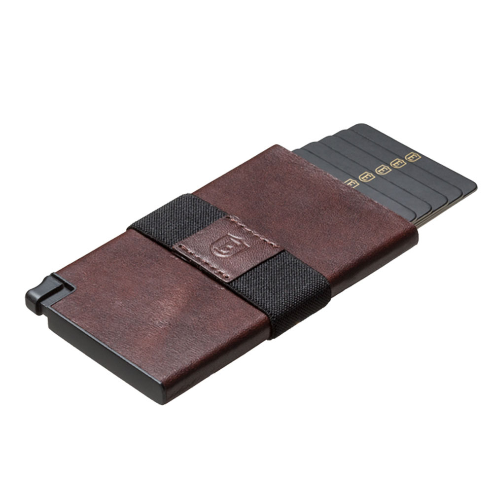 Ekster|荷蘭x紐約設計品牌 簡約真皮RFID防盜信用卡夾-深咖啡色