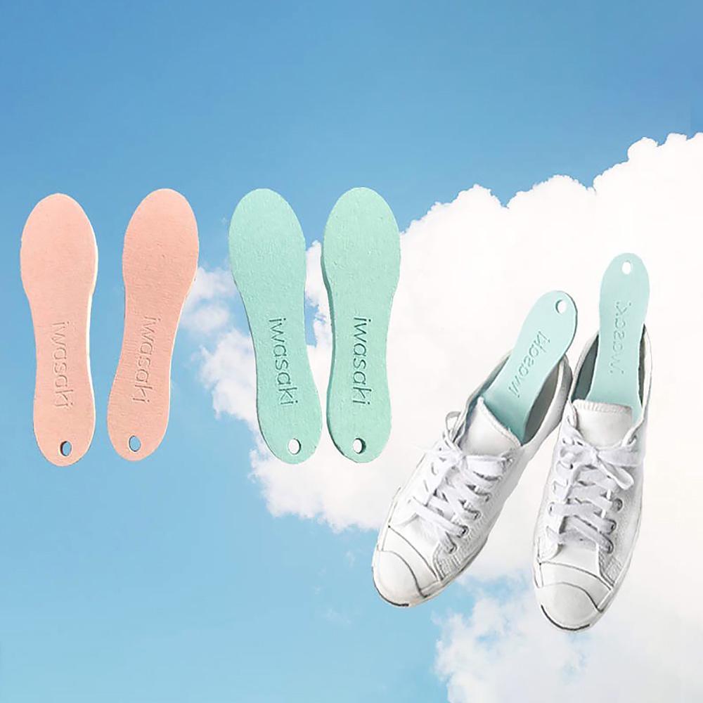 日本岩崎|硅藻土吸濕除臭鞋用防潮片 (1雙)