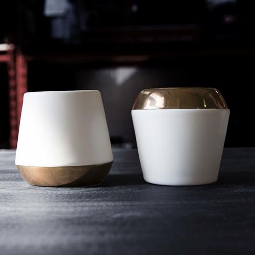 FELLOW|Junior 雙層陶瓷小咖啡杯 2.3oz - 霧面白 (2入)