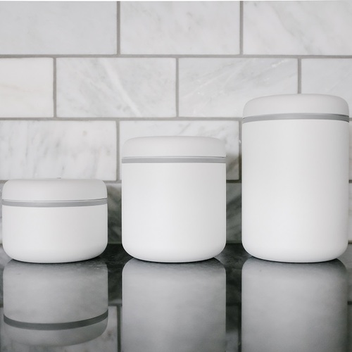 FELLOW|ATMOS 真空密封罐 不銹鋼(白)1.2L