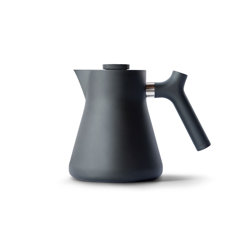 FELLOW RAVEN不鏽鋼測溫沖茶壺(霧面黑)