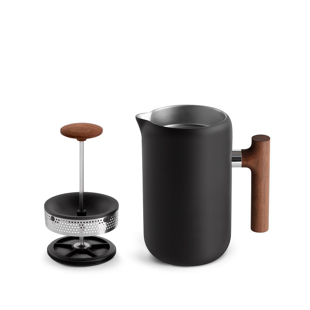 FELLOW|CLARA 雙層真空法式濾壓壺-質感木柄升級款(黑胡桃木實木)