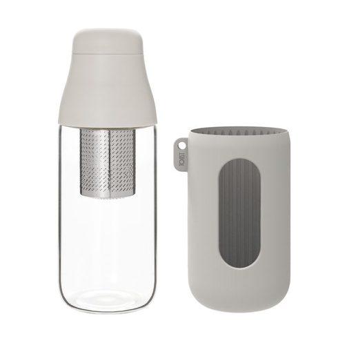 TOAST SCENE 隨身玻璃茶瓶 白色 - 500ml