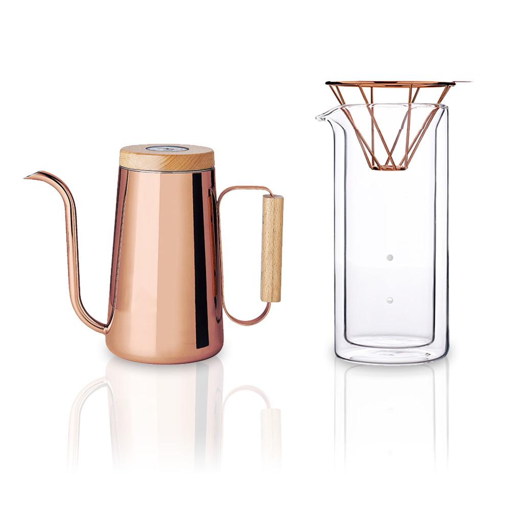 TOAST|H.A.N.D 紅銅色咖啡手沖咖啡壺組(附溫度計)
