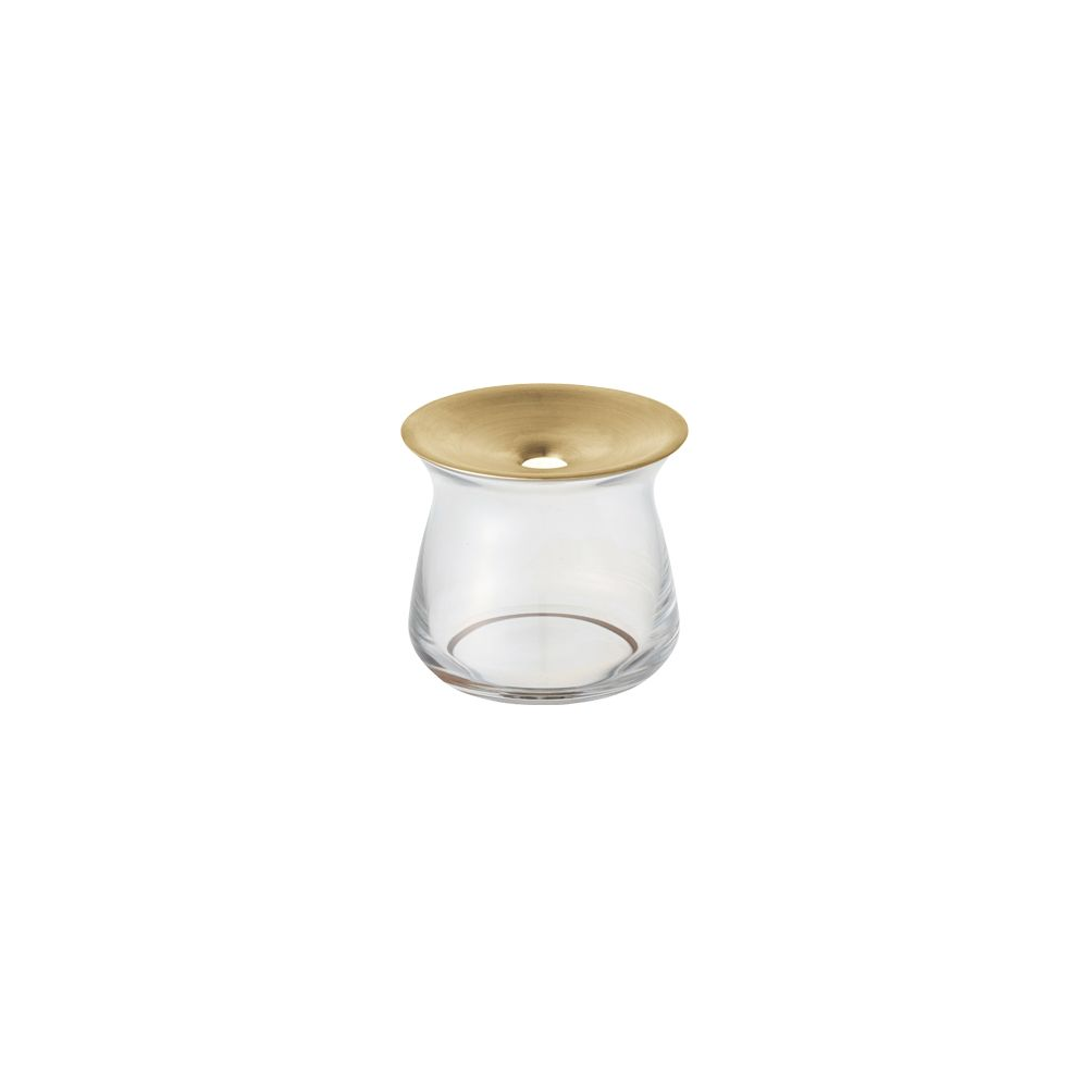 KINTO|LUNA 黃銅玻璃花瓶 170ml 透明