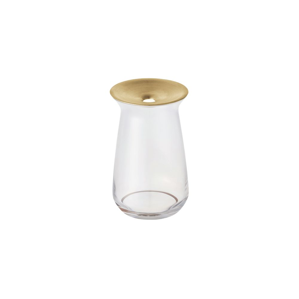 KINTO|LUNA 黃銅玻璃花瓶 360ml 透明