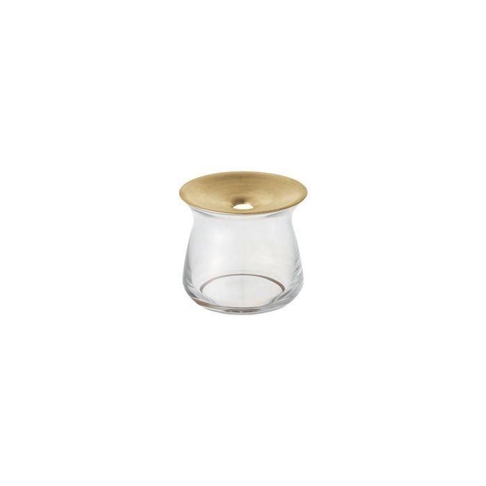 (複製)KINTO|LUNA 黃銅玻璃花瓶 170ml 咖啡色