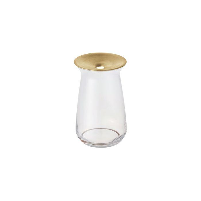(複製)KINTO|LUNA 黃銅玻璃花瓶 360ml 咖啡色