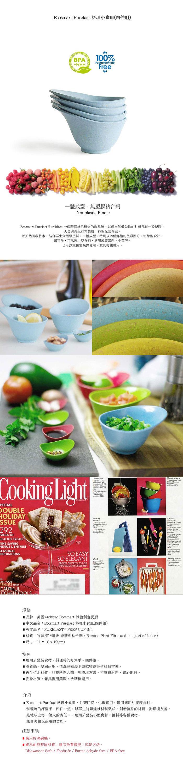 Architec| Ecosmart 料理小食皿(四件組)-典雅藍