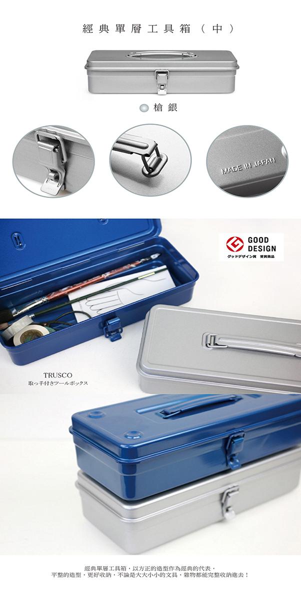(複製)Trusco|經典單層工具箱(中)鐵藍