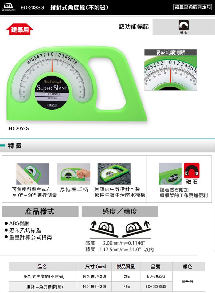 (複製)日本EBISU|Pro-Mini系列-方塊指針式 角度儀