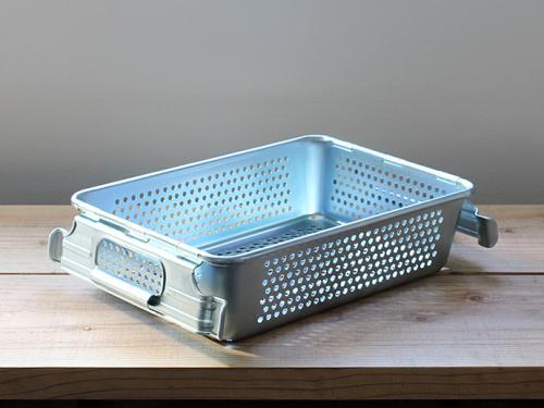(複製)Trusco│ 工業風網狀附把手鍍鋅收納盒(大)