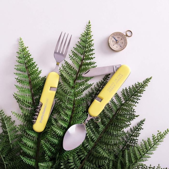 (複製)Pretty Useful Tools 金色5合1多功能LED隨身鑰匙圈手電筒 - 附磁鐵