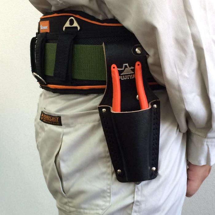 (複製)FUJIYA日本富士箭|高級黑牛皮腰間鉗子收納袋-二支型