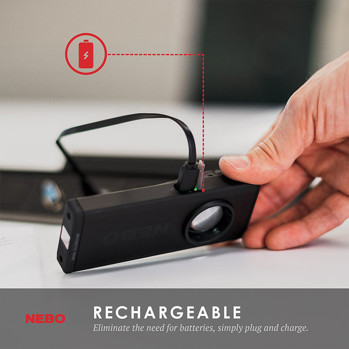 (複製)NEBO | SLIM 超薄型充電可調光LED燈-烈焰紅