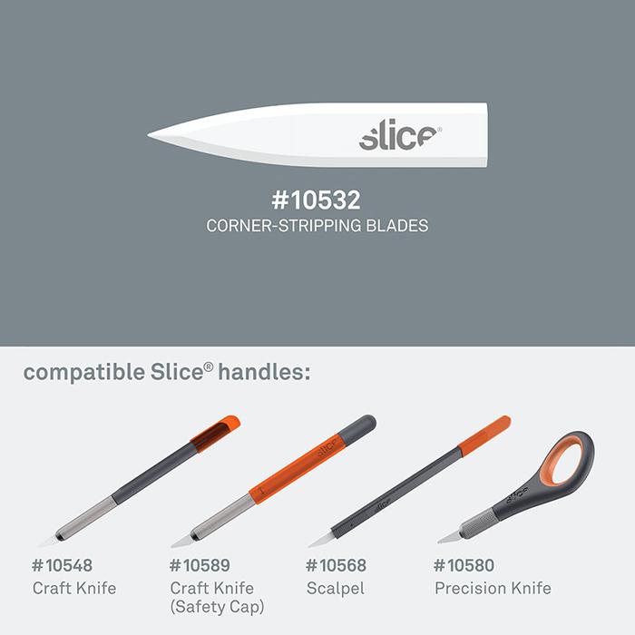 (複製)Slice|陶瓷筆刀替刃-圓弧型 4入組