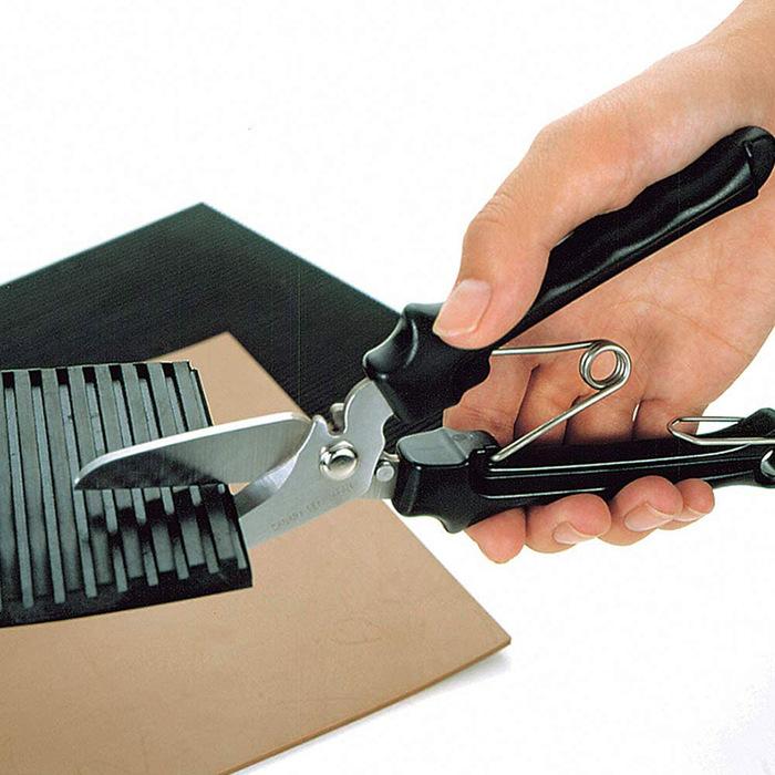 (複製)日本CANARY|剪刀大力士 多用途附齒剪刀-彎刃205mm