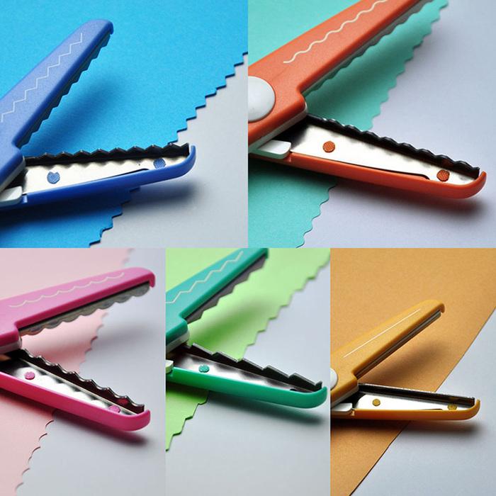 (複製)日本CANARY|美術安全剪刀-鋸齒藍