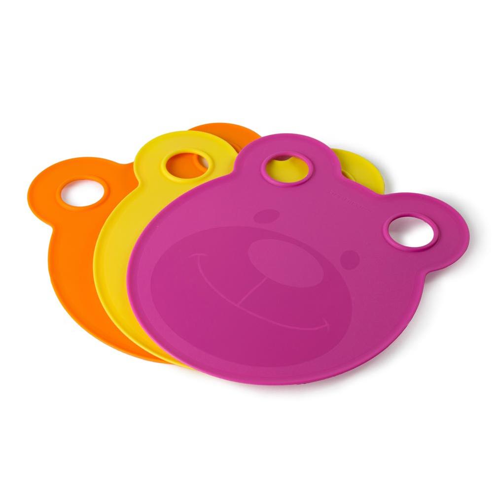 Architec|兒童小熊造型餐盤&砧板(Girls)