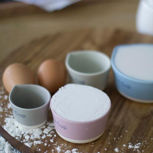 Architec| TSP 烘培陶瓷量杯4件組-米白色