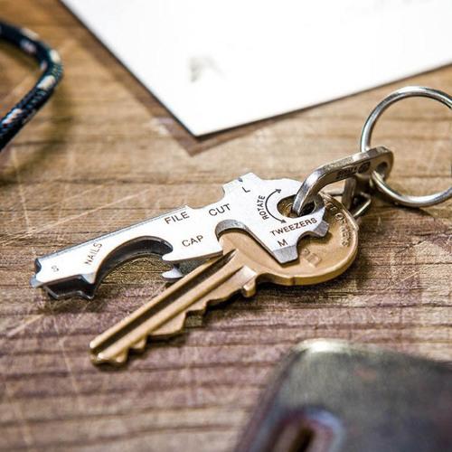 TRUE UTILITY l 英國多功能8合1迷你鑰匙圈工具KeyTool
