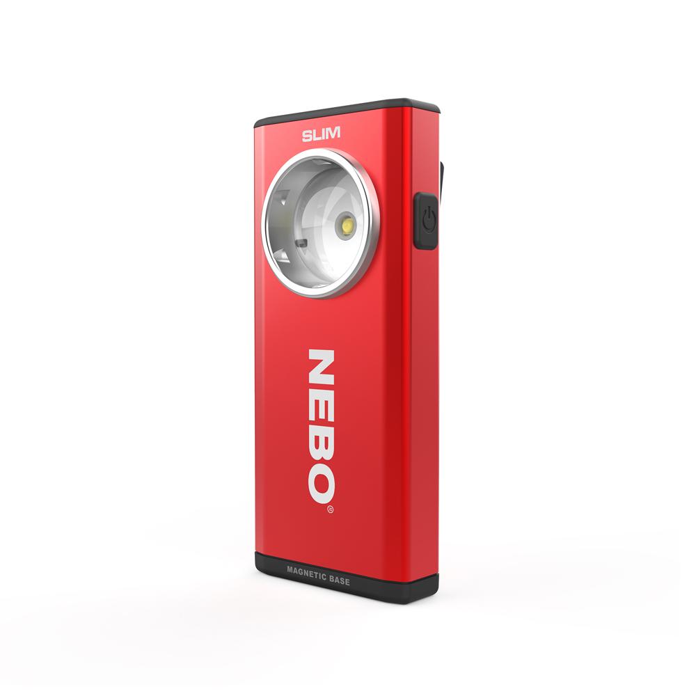 NEBO | SLIM 超薄型充電可調光LED燈-烈焰紅