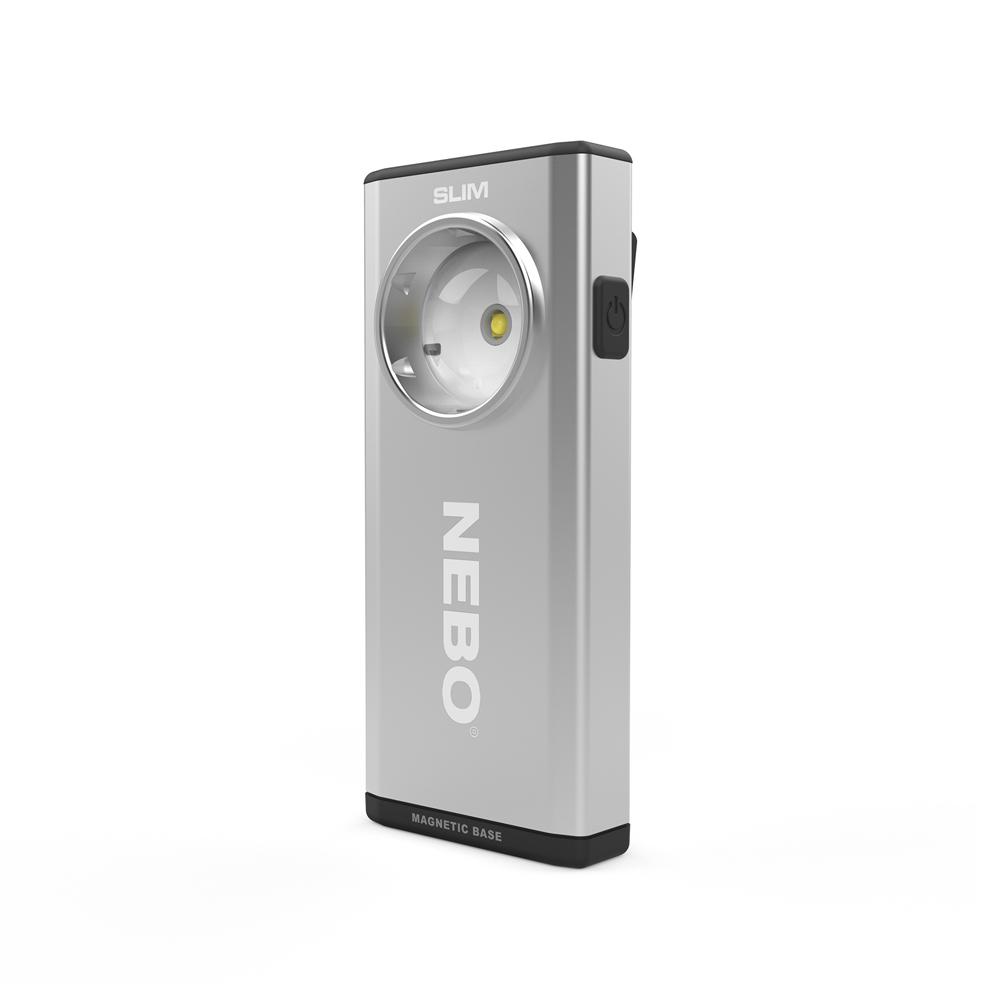 NEBO   SLIM 超薄型充電可調光LED燈-鉑金銀