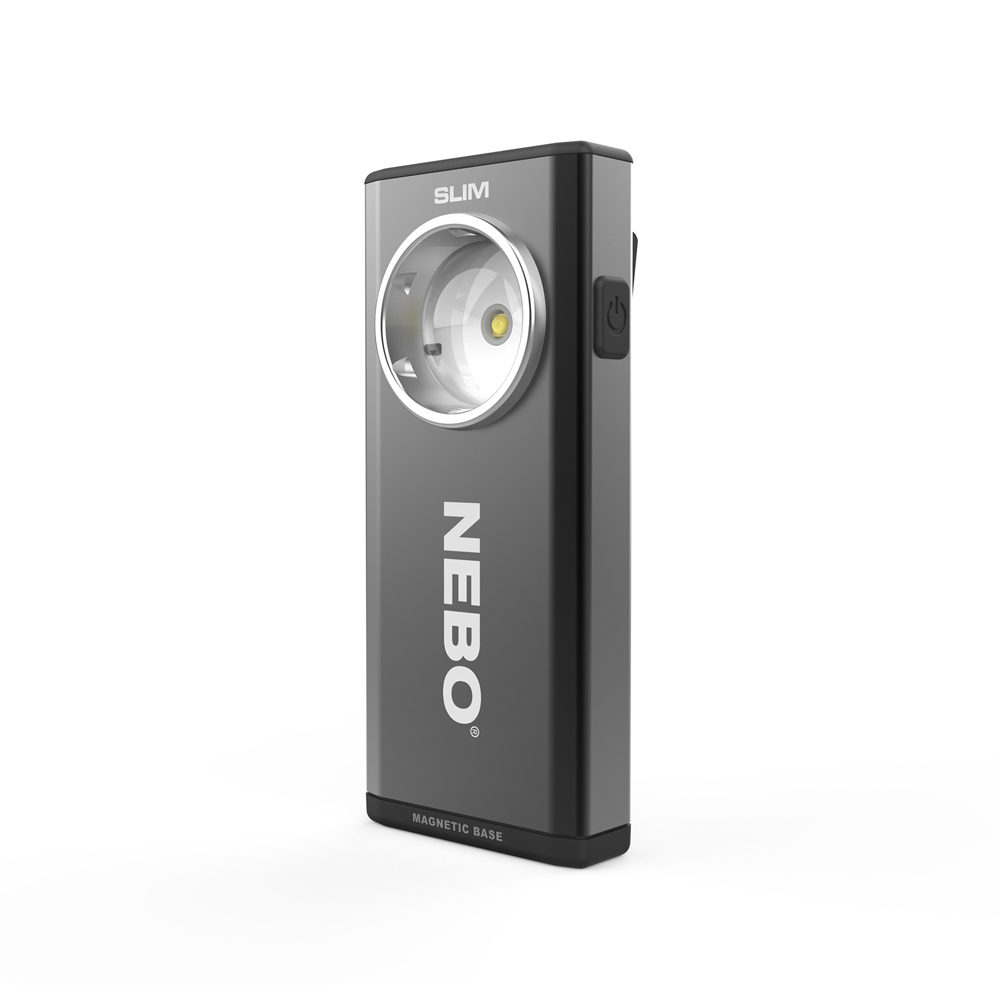 NEBO   SLIM 超薄型充電可調光LED燈-經典黑