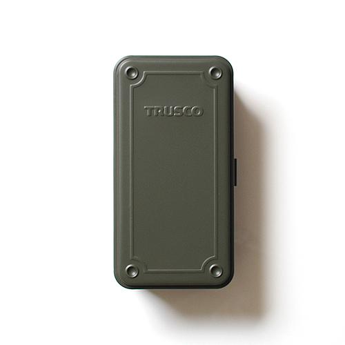 Trusco|上掀式收納盒(大)-迷霧軍裝綠