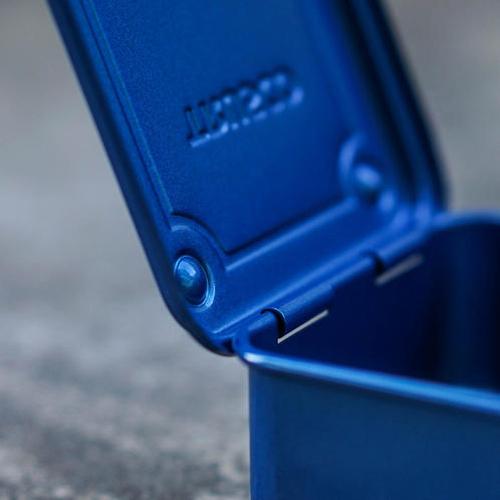 Trusco 上掀式收納盒(大)-鐵藍