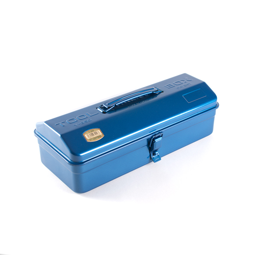 Trusco|山型單層工具箱-鐵藍(Y-350-B)