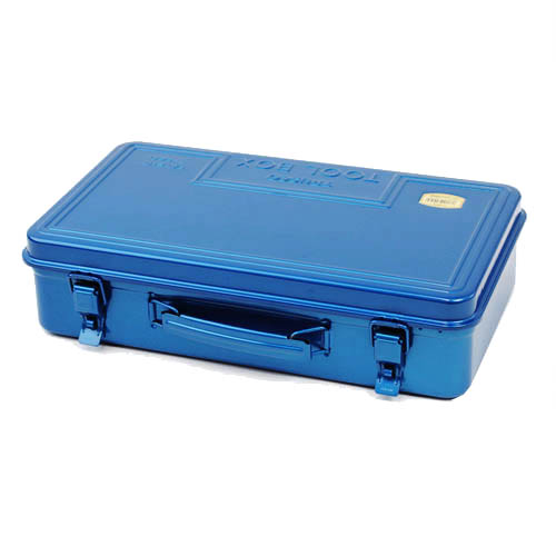 Trusco|後備型工具箱(側提把)-鐵藍