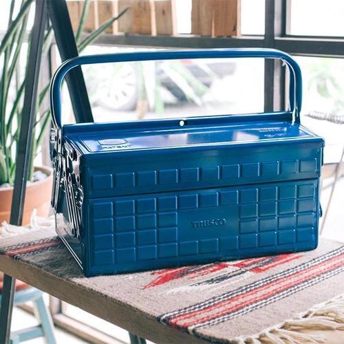 Trusco|專業型兩段式工具箱-鐵藍