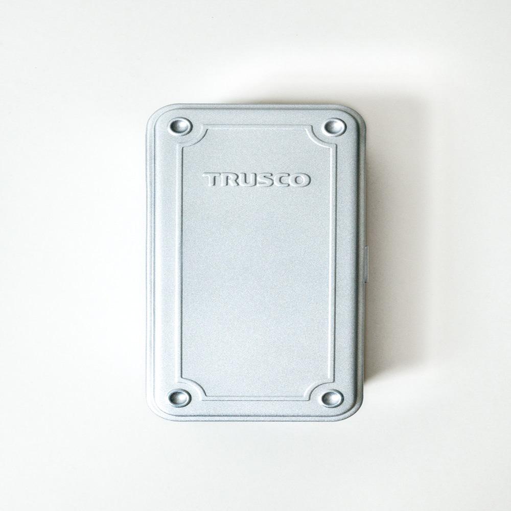 Trusco 上掀式收納盒(大)-槍銀
