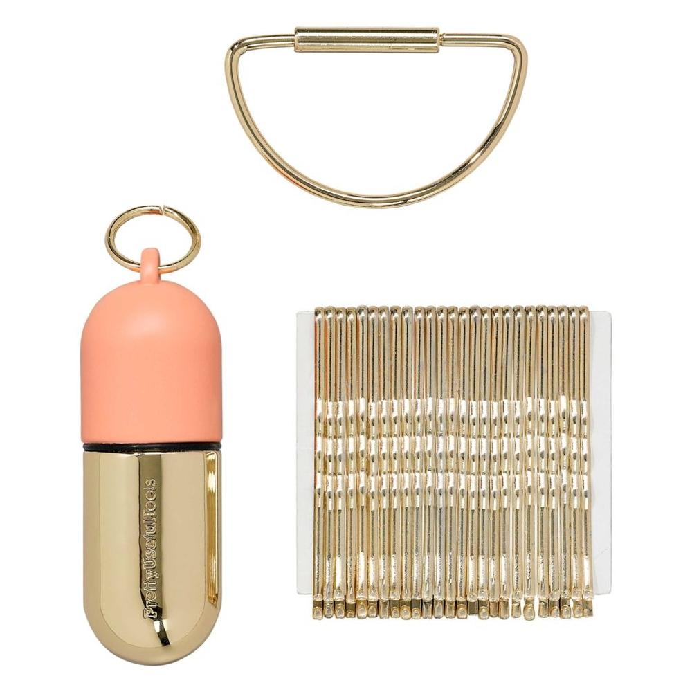 Pretty Useful Tools 隨身髮夾迷你收納罐 - 附金色髮夾