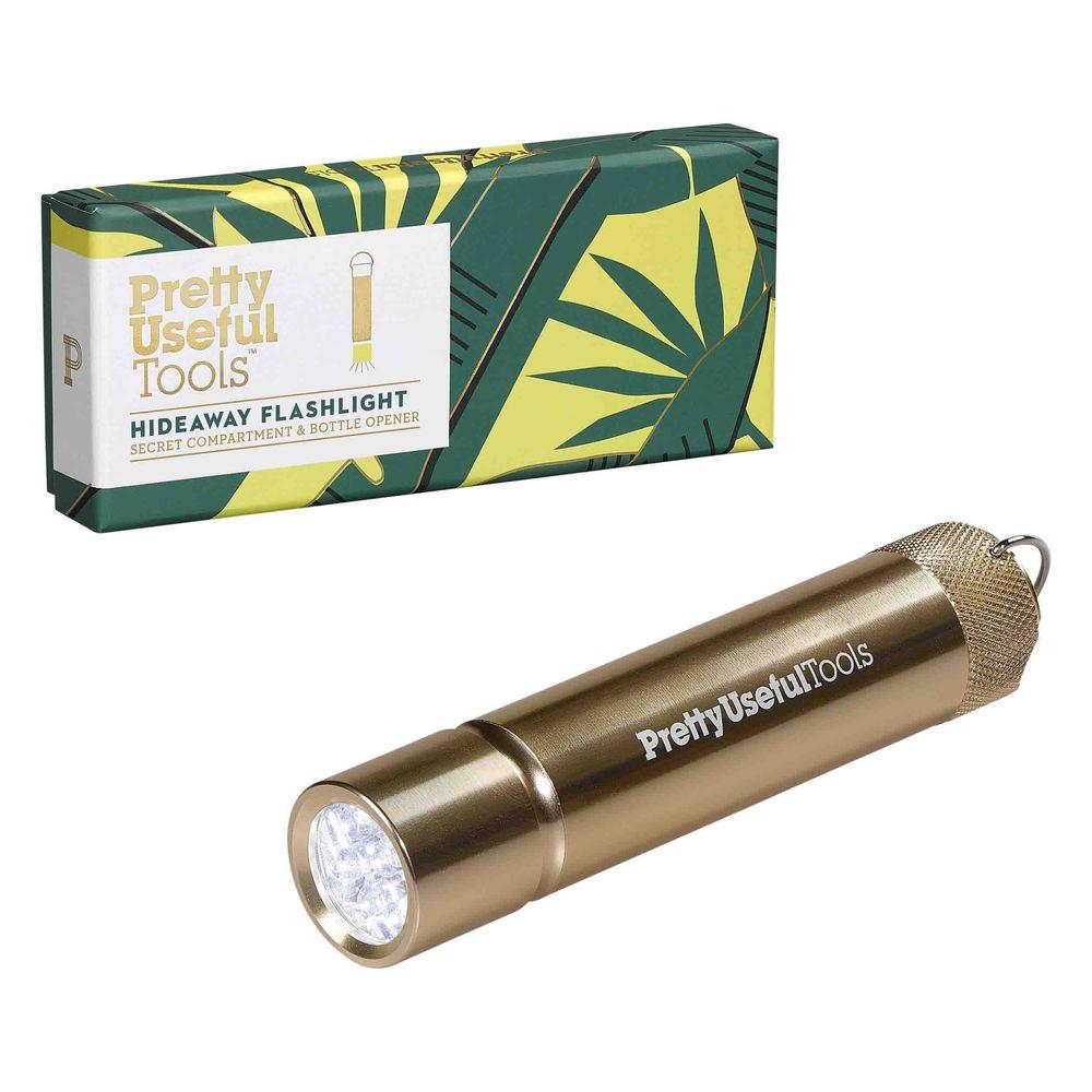 Pretty Useful Tools 隨身LED多功能手電筒 - 金色