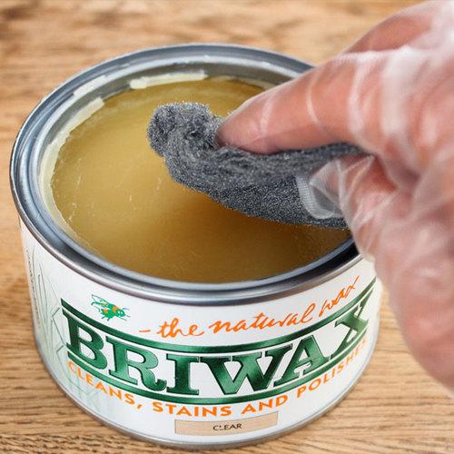 Briwax 拋光上色蠟 - 復古棕褐色 370g