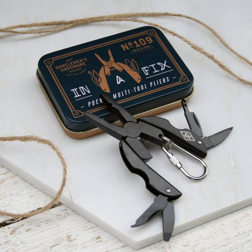 Gentlemen's Hardware|口袋隨身甲蟲造型刀鉗工具組-極致黑