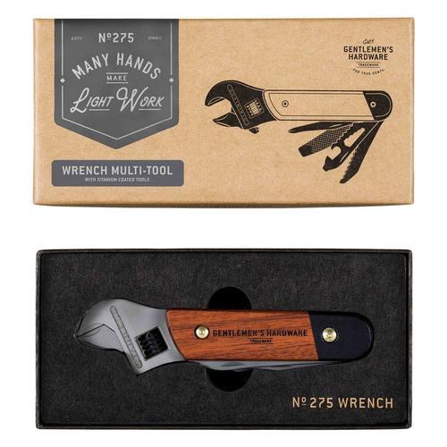 Gentlemen's Hardware|經典多用途戶外板手刀具組--木質握把