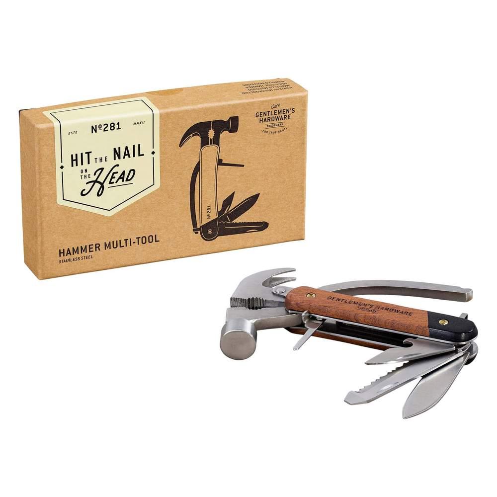 Gentlemen's Hardware 經典7合1多用途戶外隨身鎚子刀具組-木質握把