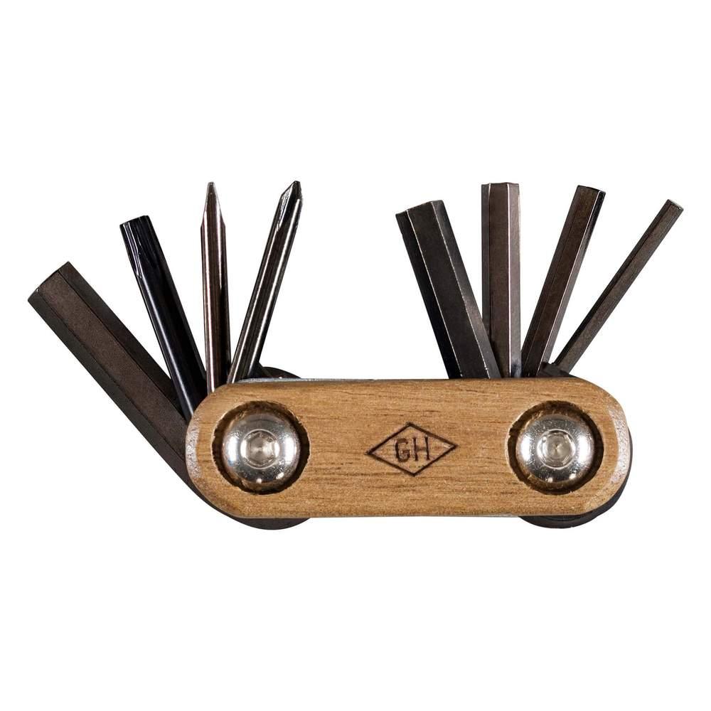 Gentlemen's Hardware 口袋隨身腳踏車維修工具組-木頭握柄