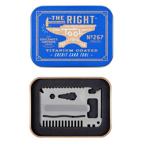 Gentlemen's Hardware 卡片式多用途工具組-鈦金屬