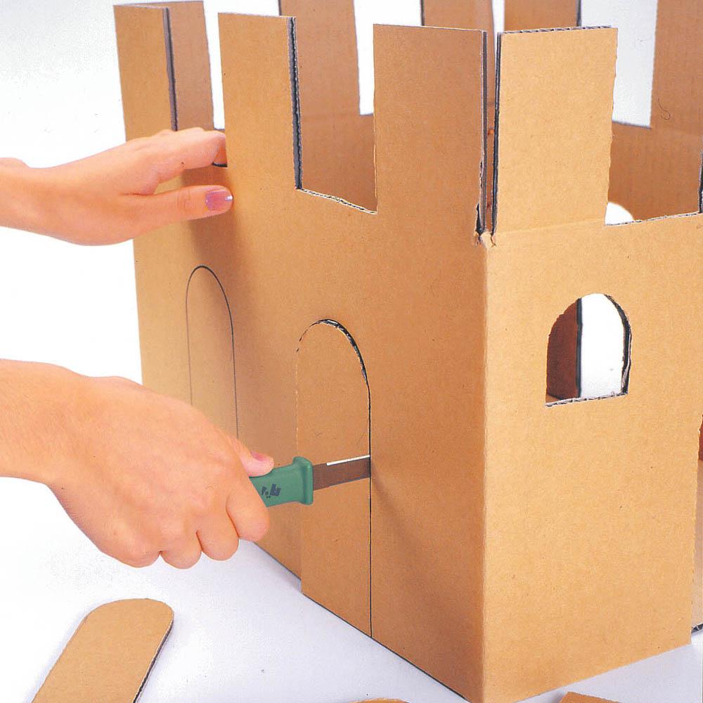 日本CANARY|紙箱小子-紙箱專用切刀-綠色