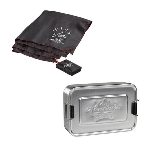 Gentlemen's Hardware 戶外野餐組合:防水防潮地墊+多功能點心收納盒(銀)