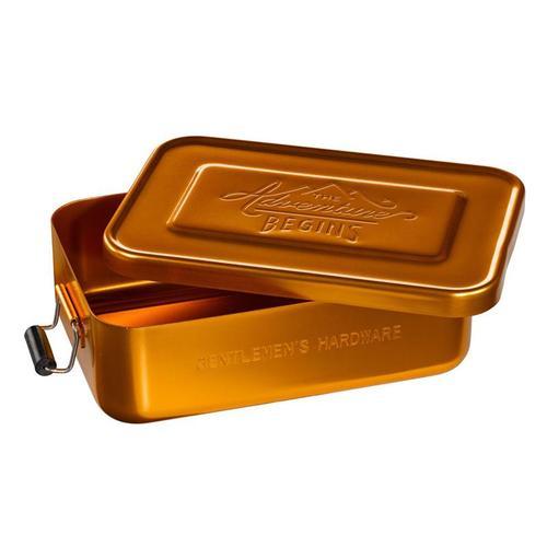 Gentlemen's Hardware 掀蓋式多功能點心收納盒2入組:銀色+金銅色