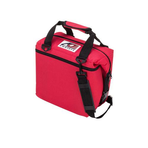 AO COOLERS|酷冷軟式輕量保冷托特包-12罐型 -經典帆布CANVAS系列 復古紅